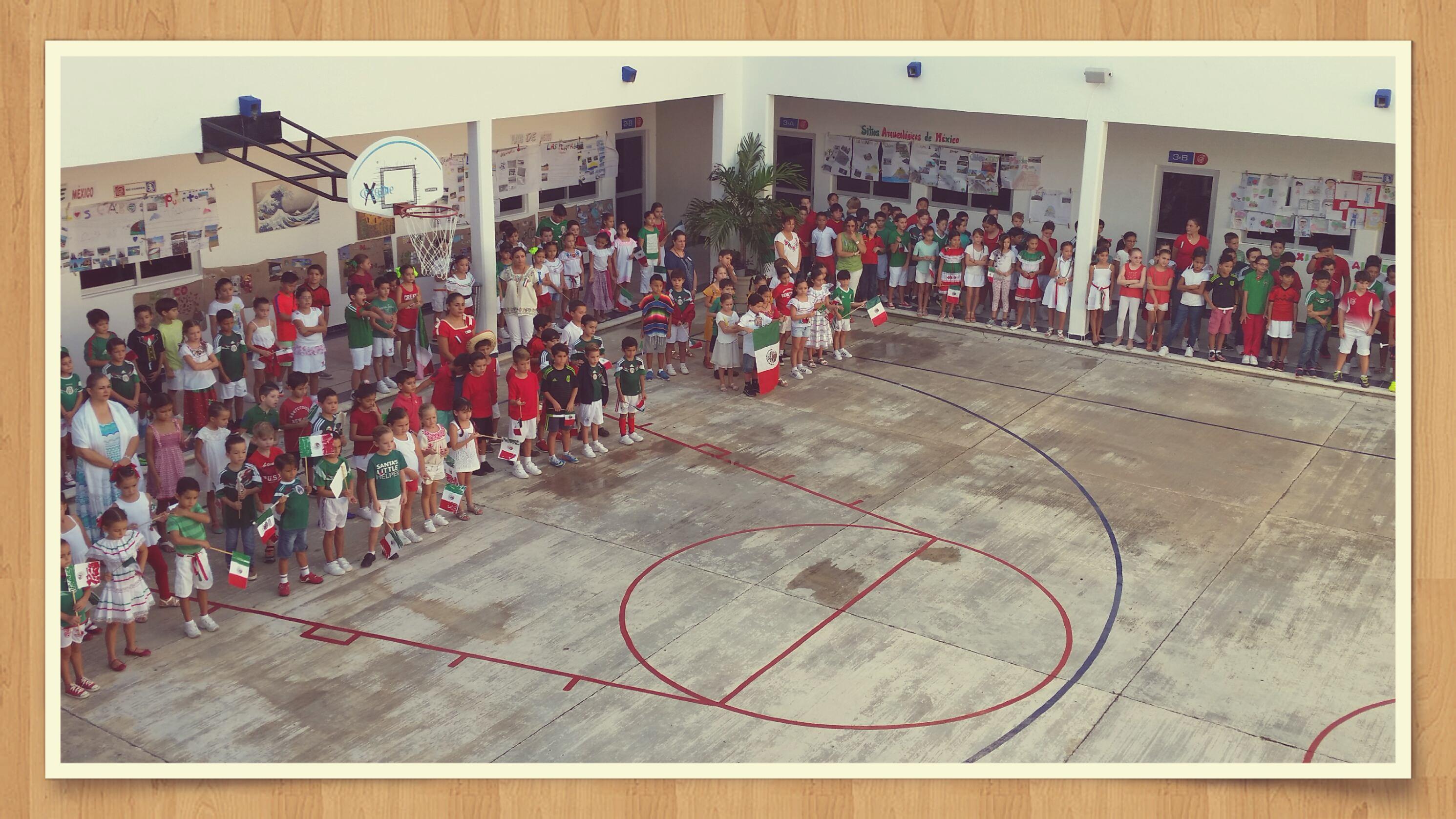 Celebración día 15 Septiembre 2016. Colegio Alexandre. Cancún